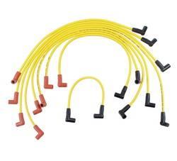 Accel - ACCEL 4000 Series Super Stock Spark Plug Wire Set - Spiral Core - 8mm - Graphite Suppression - Yellow