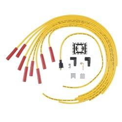 Accel - ACCEL Universal Fit Super Stock 8mm Spiral Spark Plug Wire Set - Yellow