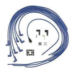 Accel - ACCEL Universal Fit Super Stock 8mm Spiral Spark Plug Wire Set - Blue 90 Degree Boots