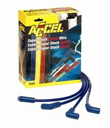Accel - ACCEL Custom Fit Super Stock Spiral Spark Plug Wire Set - Blue