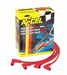 Accel - ACCEL Custom Fit Super Stock Spiral Spark Plug Wire Set - Red
