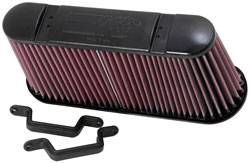 "K&N Filters - K&N Performance Air Filter - Oval - 13-3/8 x 4"" x 6-3/8"" - Chevy Corvette 2006-13"