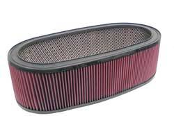 "K&N Filters - K&N Performance Air Filter - Oval - 20-13/16 x 9-1/2"" x 6"" - Universal"