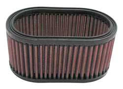 "K&N Filters - K&N Performance Air Filter - Oval - 7 x 4-1/2"" x 3-5/16"" - Universal"