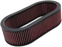 "K&N Filters - K&N Performance Air Filter - Oval - 14-5/8 x 7-3/4"" x 4"" - Universal"