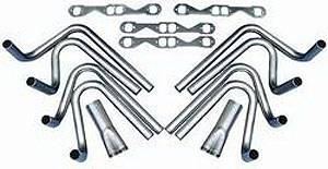 "Hedman Hedders - Hedman Hedders 2"" BB Chevy Weld Up Kit- 3.5"" Slip On Collector"