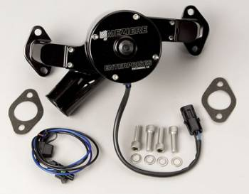 Meziere Enterprises - Meziere BB Chevy Billet Electric Water Pump - Hi-Flow - Black
