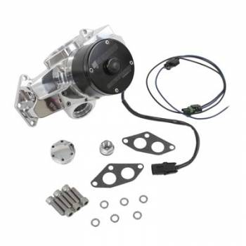 Meziere Enterprises - Meziere BB Chrysler Billet Electric Water Pump - Hi-Flow - Polished