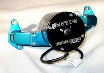 Meziere Enterprises - Meziere BB Ford Billet Electric Water Pump - Blue