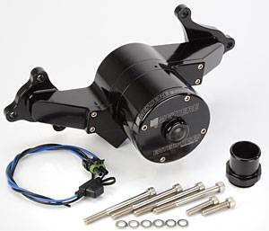 Meziere Enterprises - Meziere Hemi Billet Electric Water Pump - Hi-Flow - Black