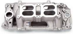 Edelbrock - Edelbrock RPM Air Gap Dual-Quad Intake Manifold - Cast Finish