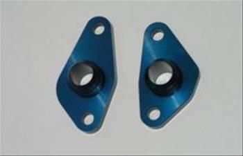 Meziere Enterprises - Meziere SB Ford -12 AN Water Port Adapter - Blue