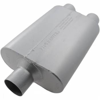 "Flowmaster - Flowmaster 40 Series Delta Flow Muffler - 2.5"" Center Inlet / 2.5"" Dual Outlet-Aggressive/Moderate Sound"