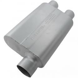"Flowmaster - Flowmaster 40 Series Delta Flow Muffler - 3"" Offset - Inlet / 2.5"" Dual Outlet"