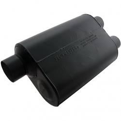 """Flowmaster - Flowmaster Super 40 Delta Flow Muffler - 3"""" Offset - Inlet / 2.5 Dual Outlet"""