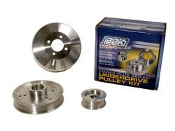 BBK Performance - BBK Performance Power-Plus Series Underdrive Pulley System - Polished Aluminum