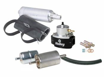 Holley Performance Products - Holley EFI Fuel System Kit - Earl's Super Stock™ hose w/ Barbed Hose Ends