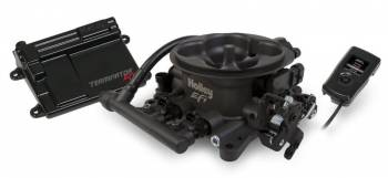 Holley Performance Products - Holley Terminator™ EFI 4bbl Throttle Body Fuel Injection System V8 4 bbl 950 cfm range 250 To 600 HP-Hard Core Gray