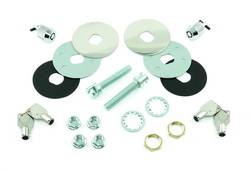Mr. Gasket - Mr. Gasket Super Security Hood Lock Kit - Includes 2 Chrome Plated Lock Set -s/2 Lock Pins/4 Nuts/2 Keys