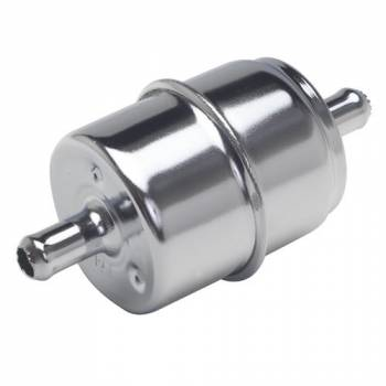 Trans-Dapt Performance - Trans-Dapt Fuel Filter - Chrome - Straight Inlet and Outlet