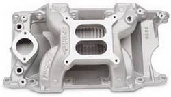 Edelbrock - Edelbrock RPM Air Gap 340/360 Intake Manifold - Cast Finish