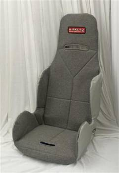 Kirkey Racing Fabrication - Kirkey Economy Drag Seat Cover - Grey Cloth - 16""