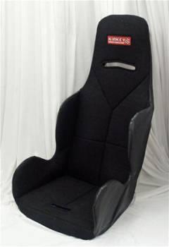 "Kirkey Racing Fabrication - Kirkey Economy Drag Seat Cover - Black Cloth - 17"""