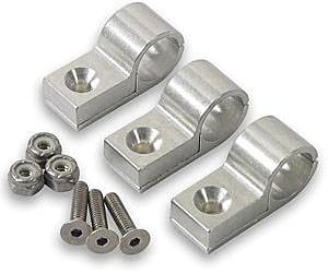 "Earl's Performance Products - Earl's 1/4"" Polished Aluminum Line Clamps (6 Pack)"