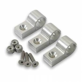 "Earl's Performance Products - Earl's 1/2"" Polished Aluminum Line Clamp (3 Pack)"