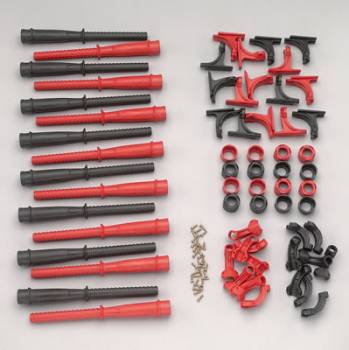 MSD - MSD Hemi Tubes - 8 Red 8 Black