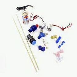 Nitrous Oxide Systems (NOS) - NOS Ntimidator Illuminated LED Nitrous Purge Kit - Includes 1 Super Powershot Solenoid/Push Button Switch/2 Blue LED Assemblies/ 2 12 in. Steel Tubes/Fittings/Adapters