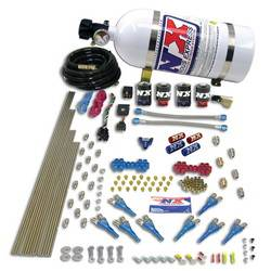Nitrous Express - Nitrous Express Shark Direct Port Nitrous System w/ 10 lb. Bottle and Brackets