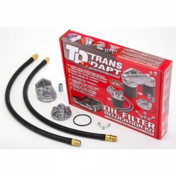 Trans-Dapt Performance - Trans-Dapt Single Oil Filter Relocation Kit - 13/16-16 Threads