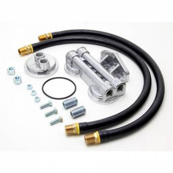 Trans-Dapt Performance - Trans-Dapt Dual Oil Filter Relocation Kit - 13/16-16 Threads