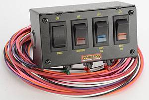 Painless Performance Products - Painless Performance 4 Switch Panel w/ Harness