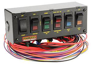 Painless Performance Products - Painless Performance 6 Switch Panel w/ Harness