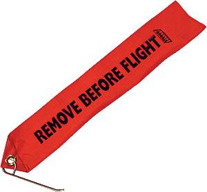 "Stroud Safety - Stroud Drag Chute Locking Pin w/ Red ""Remove Before Flight"" Tag"