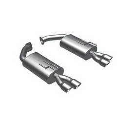 Magnaflow Performance Exhaust - Magnaflow Stainless Steel Axle-Back System 5 x 11 x 14 in. Dual Mufflers
