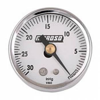 Moroso Performance Products - Moroso 1-1/2 Vacuum Gauge - 0-30HG