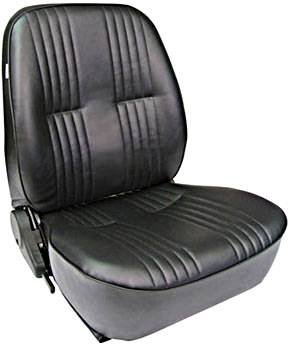 Procar by Scat - ProCar Pro90 Low Back Recliner Seat - Left Side - Vinyl - Black
