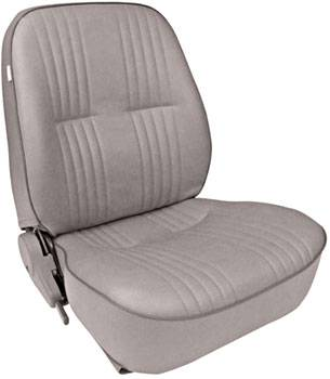 Procar by Scat - ProCar Pro90 Low Back Recliner Seat - Left Side - Vinyl - Gray