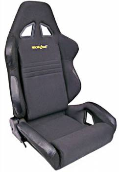 Procar by Scat - ProCar Rave Sport Recliner Seat - Left Side - Velour - Black