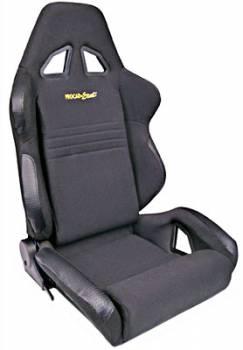 Procar by Scat - ProCar Rave Sport Recliner Seat - Left Side - Velour - Black