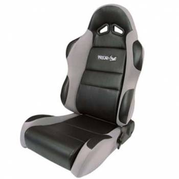 Procar by Scat - ProCar Sportsman Racing Seat - Left Side - Black Vinyl Inside - Gray Velour Wings and Bolsters