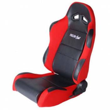 Procar by Scat - ProCar Sportsman Racing Seat - Right Side - Black Vinyl Inside - Red Velour Wings and Bolsters