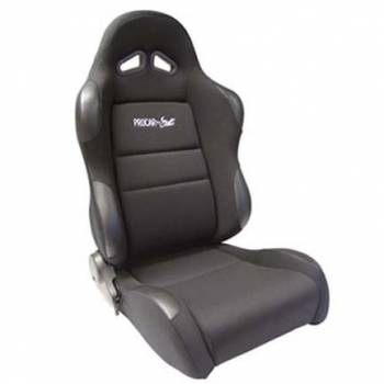 Procar by Scat - ProCar Sportsman Racing Seat - Left Side - Black Velour Inside - Black Velour Wings and Bolsters