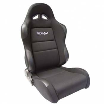 Procar by Scat - ProCar Sportsman Racing Seat - Right Side - Black Velour Inside - Black Velour Wings and Bolsters