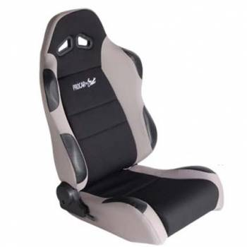 Procar by Scat - ProCar Sportsman Racing Seat - Right Side - Black Velour Inside - Gray Velour Wings and Bolsters