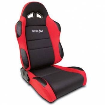 Procar by Scat - ProCar Sportsman Racing Seat - Left Side - Black Velour Inside - Red Velour Wings and Bolsters