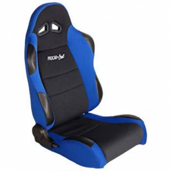 Procar by Scat - ProCar Sportsman Racing Seat - Right Side - Black Velour Inside - Blue Velour Wings and Bolsters